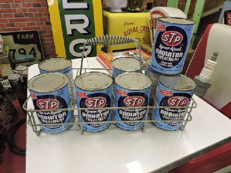 STP Radiator treatment rack and 8 cans