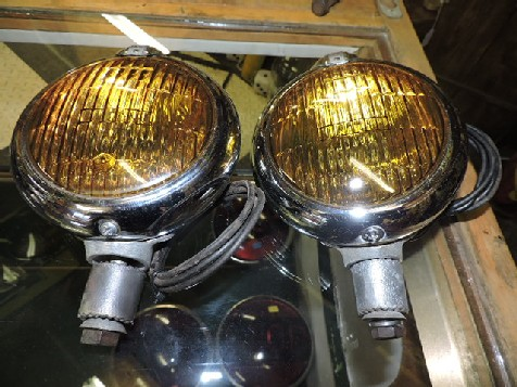 Pair of Chevrolet amber spot lights