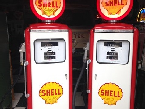 Pair of restored Tokheim gas-petrol pumps