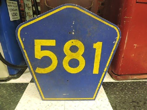 Original highway 581 sign