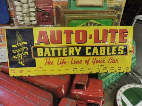 Auto Lite battery cable display rack