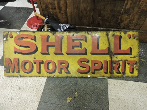 Large Shell motor spirit enamel sign