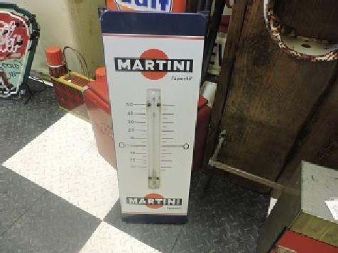 Enamel Martini thermometer sign