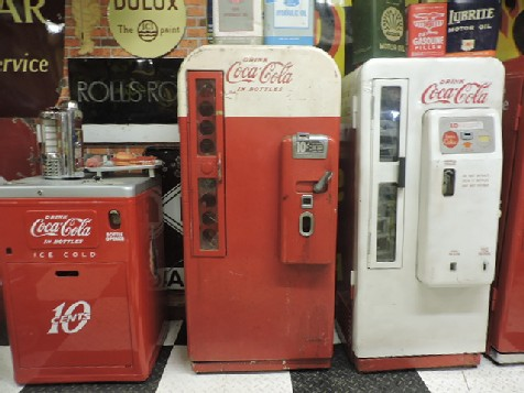 Unrestored Vendo 81A Coca Cola machine