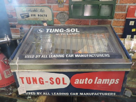 Tung Sol auto lamps counter display