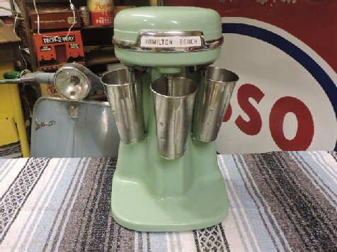 Original 1950s Hamilton Beach triple malt/shake mixer