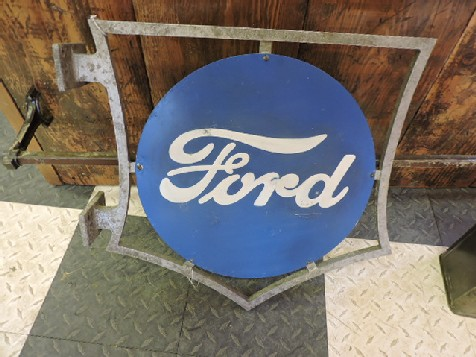 Rare Ford sign in frame