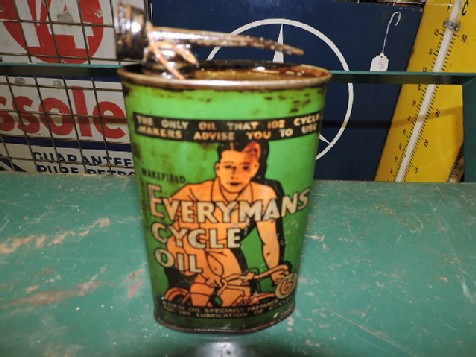Original 1940s Everymans Cycle Oil can