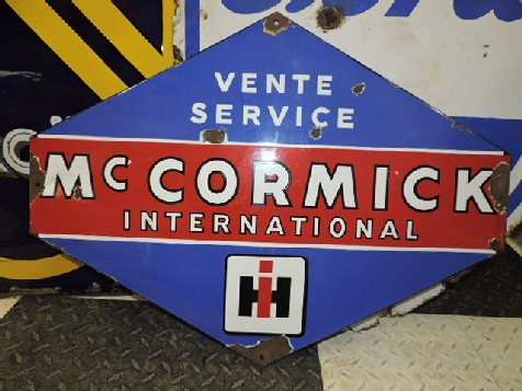 McCormick International Harvester enamel tractor sign