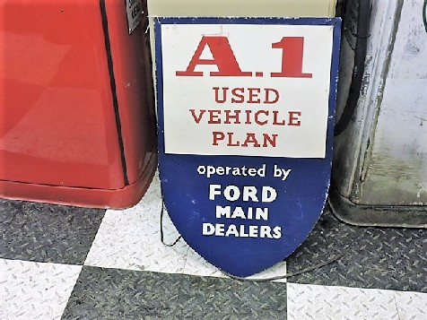 Original Ford Main Dealer A1 metal shield sign