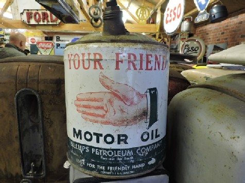 Rare your friend 5 gallon motor oil can the old for Gallon of motor oil price