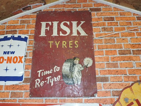 Rare Fisk tyres sign