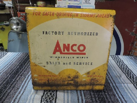1940s original Anco windshield wiper blade and arm service counter display