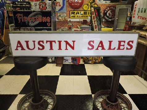 Rare original Austin sales light box sign