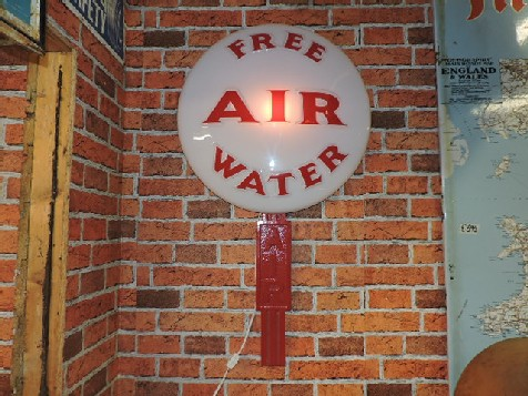 Free Air and Water lollipop sign