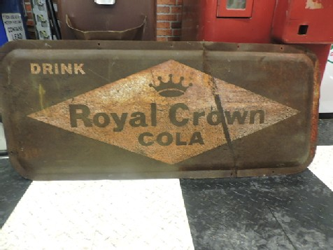 Drink Royal Crown Cola tin sign