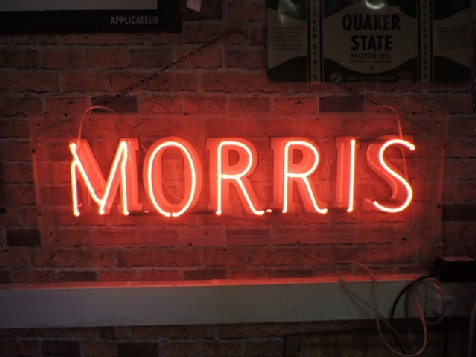 Original Morris dealership neon sign
