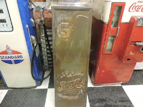 1940s Pepsi Cola double dot embossed sign