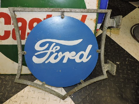 Rare Ford sign in original bracket