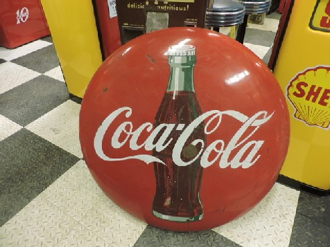 Original 36 inch enamel Coke button