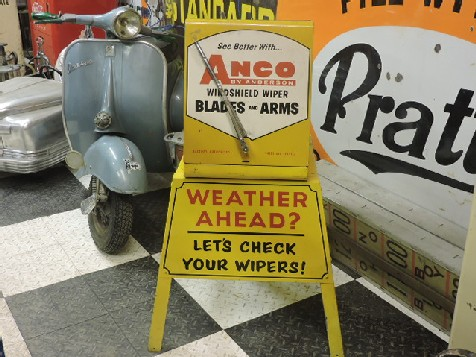 Rare 1950s Anco wiper display on stand