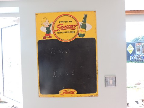 1950s Squirt menu board