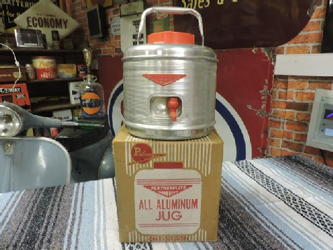 1950s Poloron Featherlite Aluminium hot and cold thermos one gallon jug