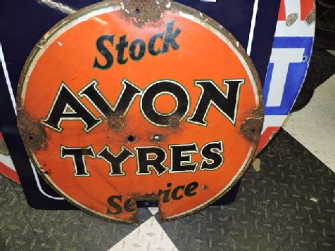 Early Avon tyres enamel sign