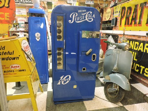Restored original 1950s VMC Pepsi Cola machine