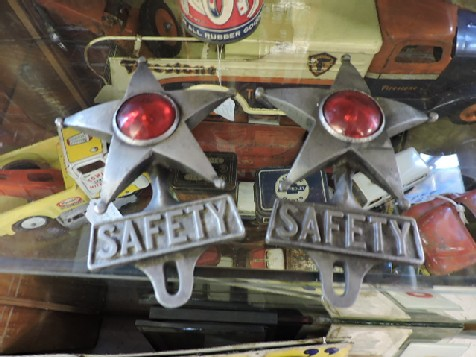 Reproduction safety star license plate reflective toppers