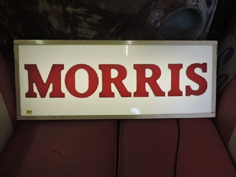 Original Morris dealership light box