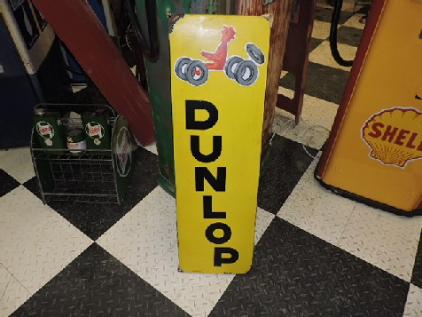 French Dunlop vertical enamel sign