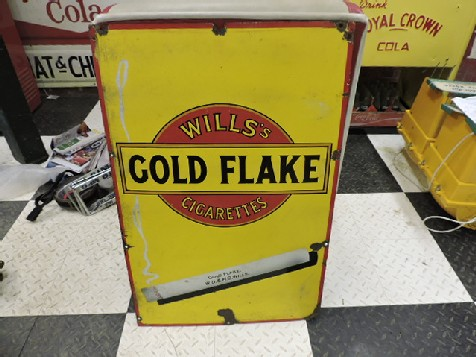 Wills Gold Flake enamel tobacco sign