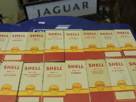 Original vintage Shell road maps