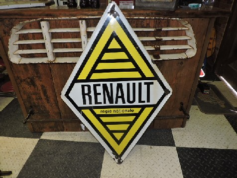 French Renault Regie Nationale enamel sign