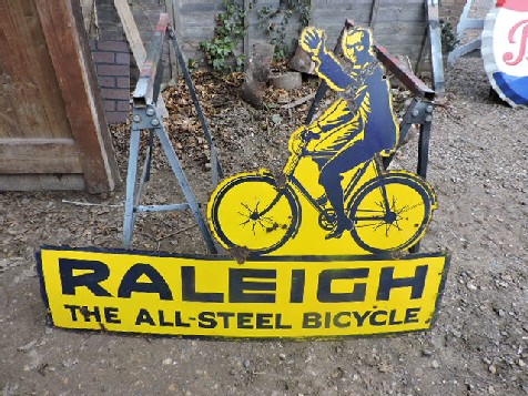 1930s Raleigh bicycle enamel sign