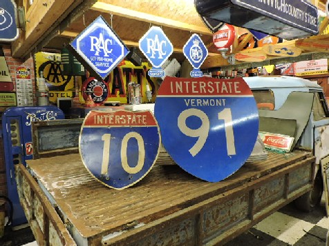 Original interstate shield signs