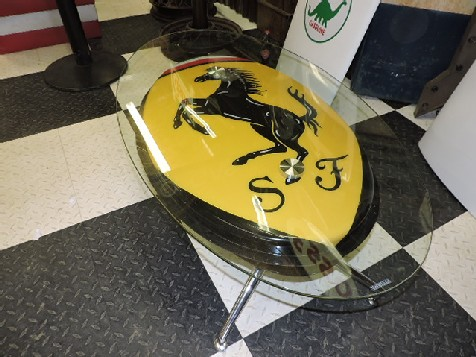 Ferrari glass top coffee table