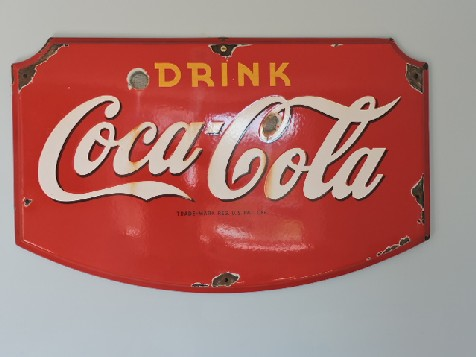 1930s Coca Cola enamel sign