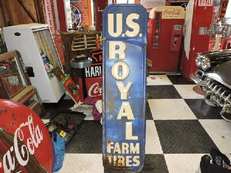 US Royal farm tires embossed sign