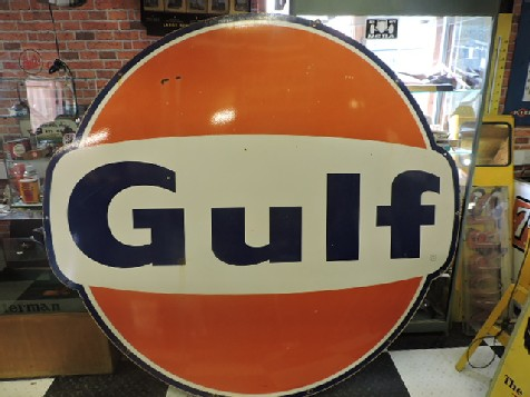 Huge Gulf enamel sign