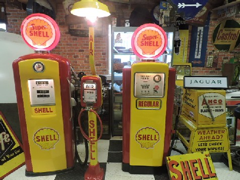 Shell Gas-Petrol station display
