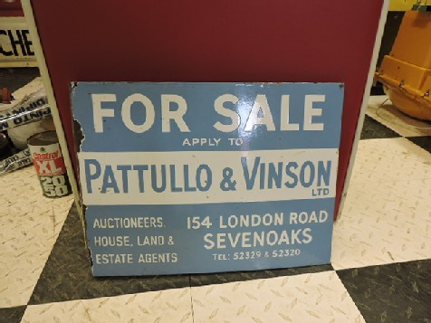Double sided enamel FOR SALE estate agents sign