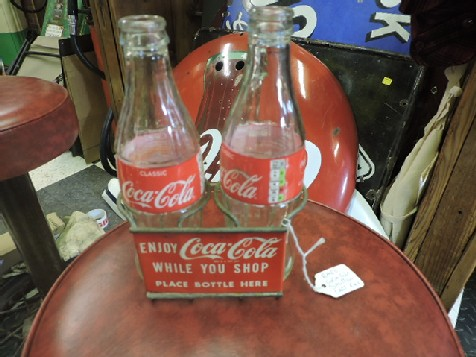Rare Coca Cola shopping cart rack