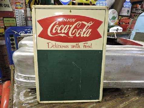 1960s Coca Cola fishtail menu board