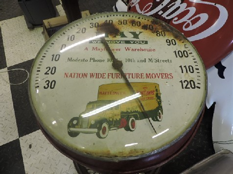 1950s Mayflower removals  thermometer sign