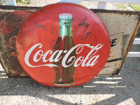 Original Coca Cola button sign