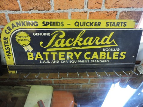 Packard battery cable display rack