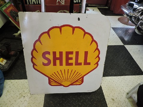 1960 Shell enamel sign