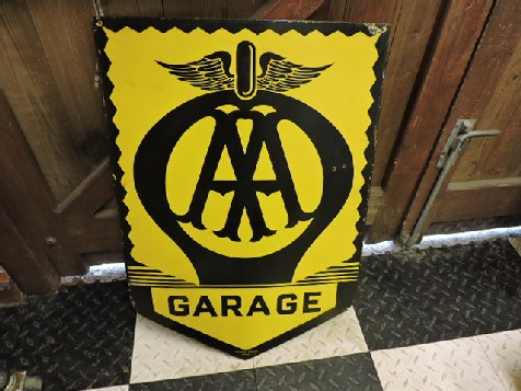 Early AA enamel garage sign